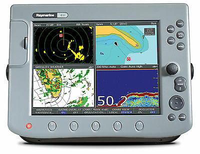 Raymarine C-120 Classic Mfd Radar/gps/ff/sirius Weather Complete Unit Excellent!