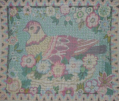 Primavera 'lovebird' Joanna Allen Tapestry Needlepoint Kit - Rare & Discontinued
