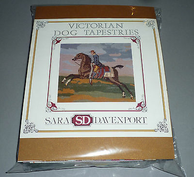 Sara Davenport Flying Childers Race Horse Victorian Tapestry Needlepoint Kit New