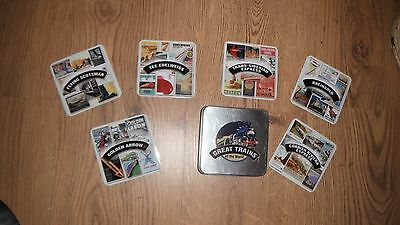 Great Trains of the World Coasters in Tin