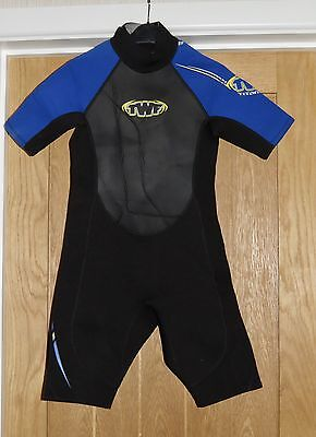 The Wetsuit Factory Black And Blue Boys Wetsuit Size Small