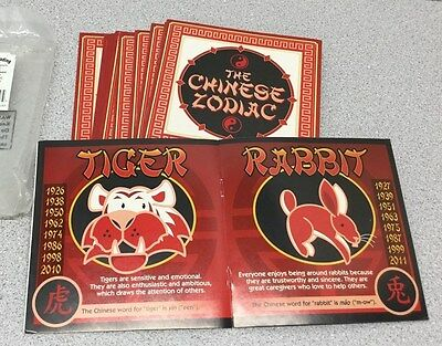 Lot of 12 New Oriental Trading Zodiac Chinese New Year Reader Books 13679464(D48