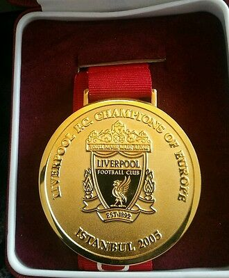 Liverpool FC Champions of Europe Medal - Instanbul 2005