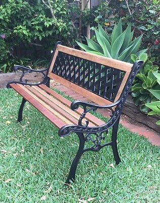 Cast Iron Bench Garden Seat Chair Outdoor Furniture Benches