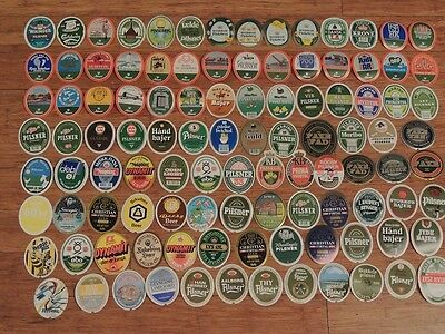 Great Set Of 100 Beer Labels From Denmark  Lot 1