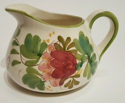 Vintage hand painted in Portugal flower pitcher
