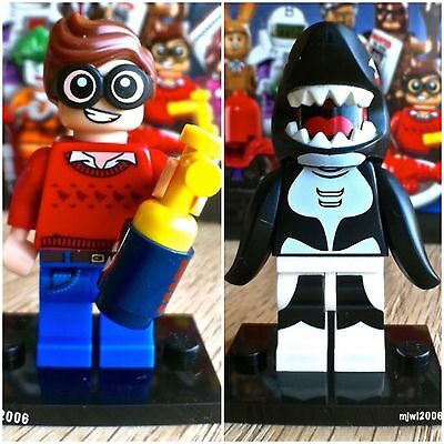 71017 THE LEGO BATMAN MOVIE Dick Grayson Orca 2 Minifigures SEALED Bundle Shark