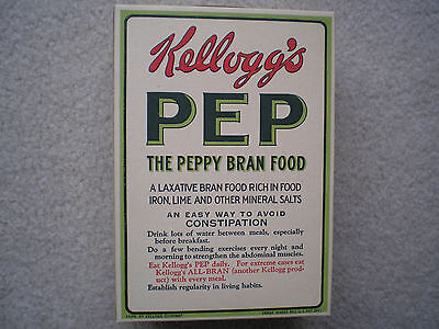Kellogg's Pep Store Display Cereal Box 1926 Complete