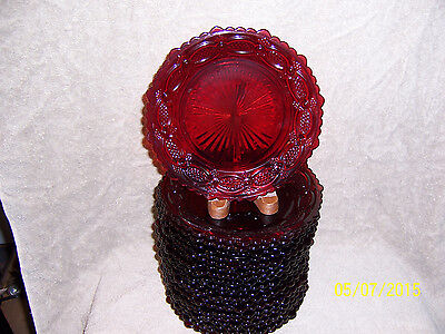 Avon Cape Cod Ruby Red 4 Dessert Plates  - No original boxes