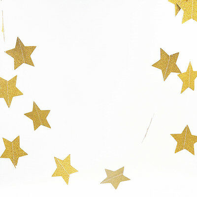 Star Paper Garland Bunting Banner Hanging Decors for Wedding Birthday Party Prom