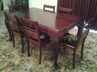 Antique Queen Anne table with 6 chairs