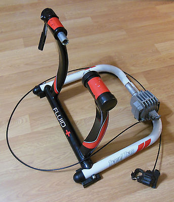 TRAVEL TRAC FLUID BICYCLE CYCLING RESISTANCE TRAINER w/ HANDLEBAR REMOTE