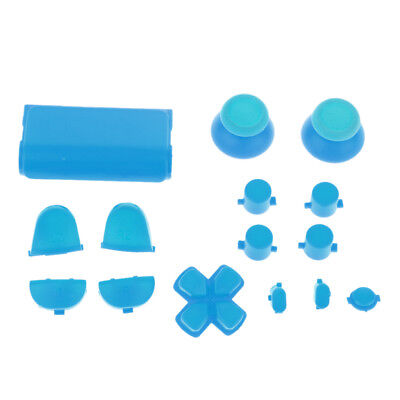 Blue Bullet Button Thumbstick D-pad L R Mod for Sony PS4 Game Controller