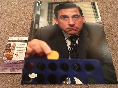 Steve Carell Signed 11X14 Photo Proof Coa Autographed The Office