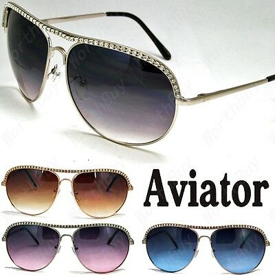 New Womens Rhinestones Sunglasses Designer Shades Fashion Metal Frame Vintage