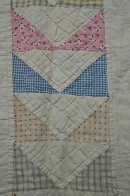 ANTIQUE Early 1900s Flying Geese CUTTER QUILT Primitive COUNTRY Cottage 8 SPI
