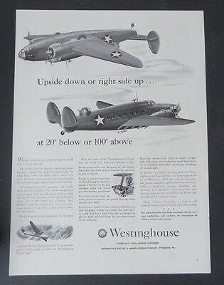 Original Print Ad 1949 ELGIN Watches Gives Wings to B-25's  Vintage Art