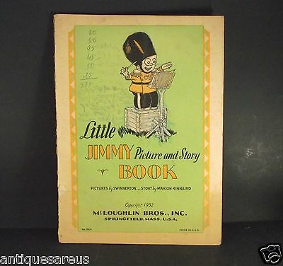 Little Jimmy Picture And Story Book 1932 Mccloughlin Bros Usa