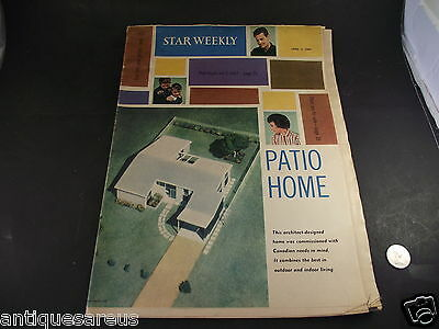 1960 Star Weekly Patio Home Architecture Furniture Adverts Etc