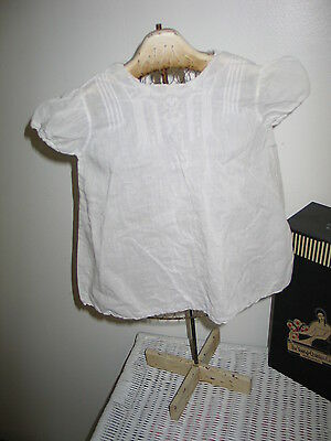 Darling Antique VTG~Baby~Doll Dress~Christening Gown~Hand Embroidery~Pintucks