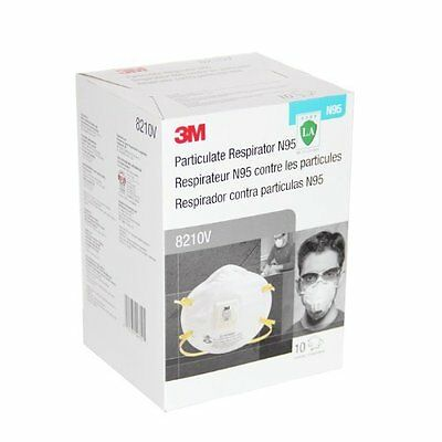 3M 8210V N95 Particulate Respirator, 1 Case of 10 (100 Dust Mask)