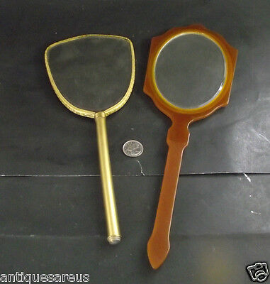 2 Antique Hand Held  Mirrors