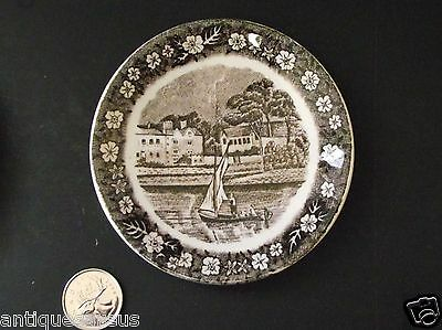 """THAMES RIVER SCENES PALiSLY POTTERY 4"""" PLATE LADY PLACE HURLEY"""