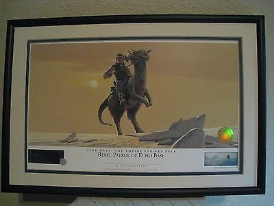 REBEL PATROL OF ECHO BASE  STAR WARS Ralph McQuarrie Lithograph -