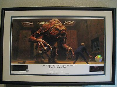 THE RANCOR PIT  STAR WARS Ralph McQuarrie Lithograph -
