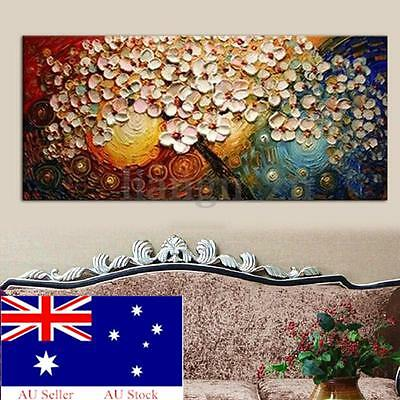 Hand-painted Flower Tree Canvas Abstract Painting Print Art Wall Decor No Frame