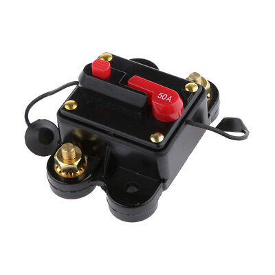 50 AMP Manual Reset Circuit Breaker Switch 12v Car Boat Power Protection