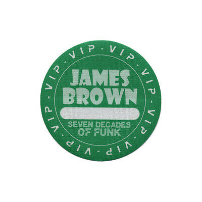 James Brown authentic VIP 2006 tour Backstage Pass