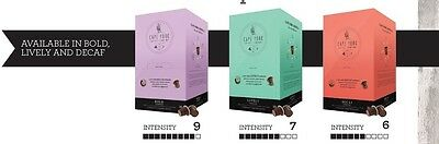 60 Cape York Coffee Pods Capsules to suit Nespresso. Bold. Intensity 9/10