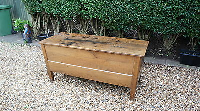 French Antique Oak Coffer/ Bed linen/ Boot box