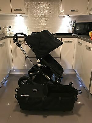 Bugaboo Cameleon 3 Black With Carrycot Free Bugaboo Footmuff