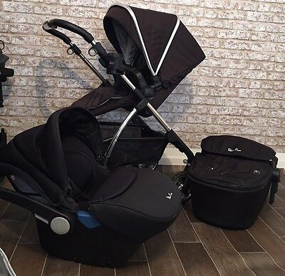 Silver Cross Wayfarer With Carrycot Full Travel System With Car Seat