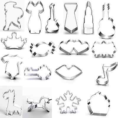 35 Shape Frame Stainless Steel Cookie Cutter Mold Cake Pastry Metal Tools