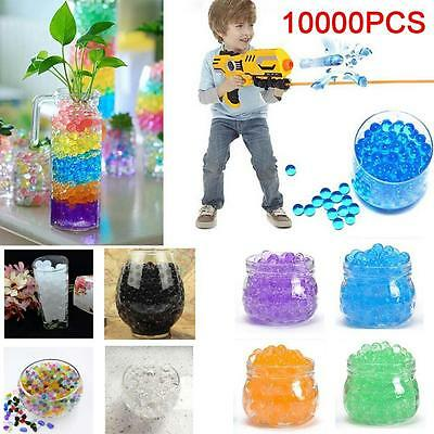 10000X Water Ball Crystal Pearls Jelly Gel Beads for Orbeez Toy Refill Decor LN