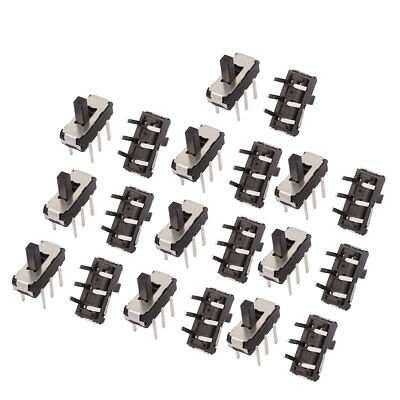 20 Pcs 2 Position Straight 6P DPDT Micro Slide Switch Latching Toggle Switch