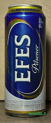 Efes beer can 500 ml from Russia 2016