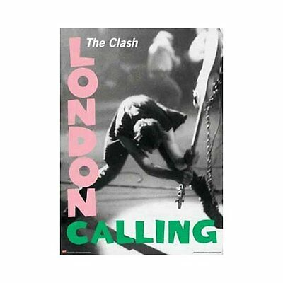 "The Clash London Calling Poster 24"" x 36"" With Pink & Green Lettering"