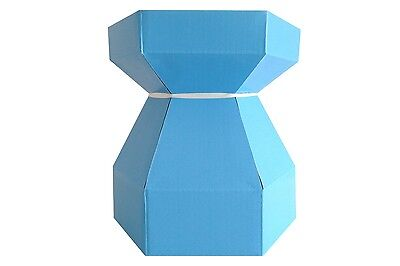 10 x Baby Blue Cupcake Bouquet Box & 7 Holder Cups