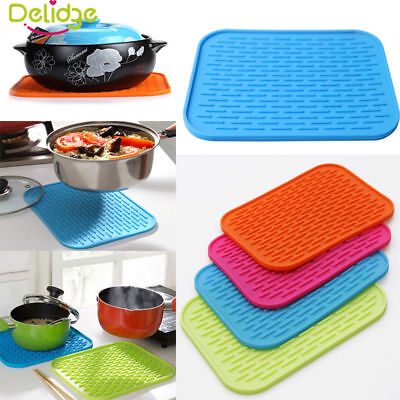 New Durable Heat Resistant Silicone Table Mat Placemat Non-slip Pan Pot Holder