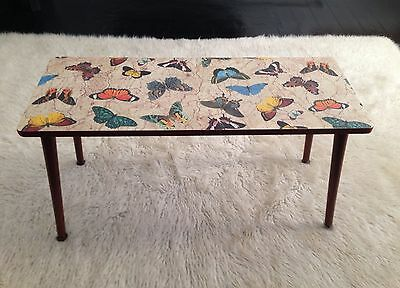 Vintage Retro 1950's Upcycled Butterfly Atomic Side Table/Occasional Table.
