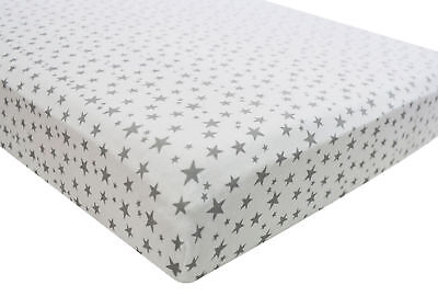 2x Fitted Sheets Compatible With Chicco Next 2 Me 100% Cotton - Midnight Stars