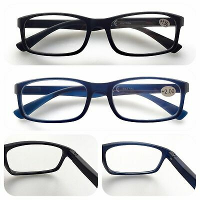 L137 Matt Plastic Plain Reading Glasses/Spring Hinges Specs/Simply Classic Style