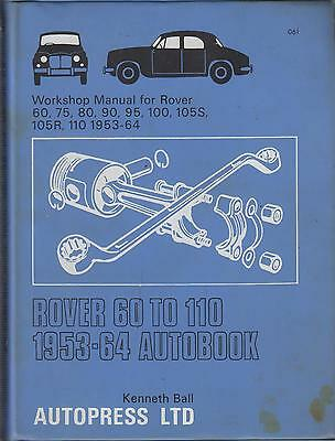 Rover P4 60 75 80 90 95 100 105S 105R 110 ( 1953 - 1964 ) Owners Workshop Manual