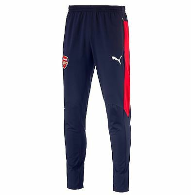 Puma Mens Gents Football Arsenal Training Pants Trousers Bottoms - Navy/Red