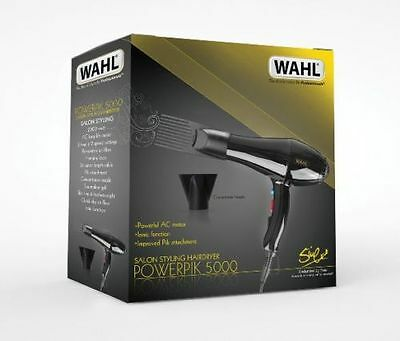 Wahl 2000W Afro 5000 Power Pik Pro Dryer Hairdryer Speed And Heat Settings Zx857