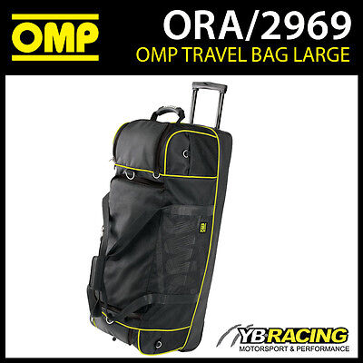 ORA/2969 OMP Racing Pitcrew Team Travel Large Holdall Bag Black/Yellow 90x38cm
